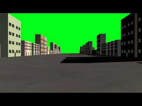 Alex Free Stock Video Footage   Full HD   Green Screen   Animation   Street in the City