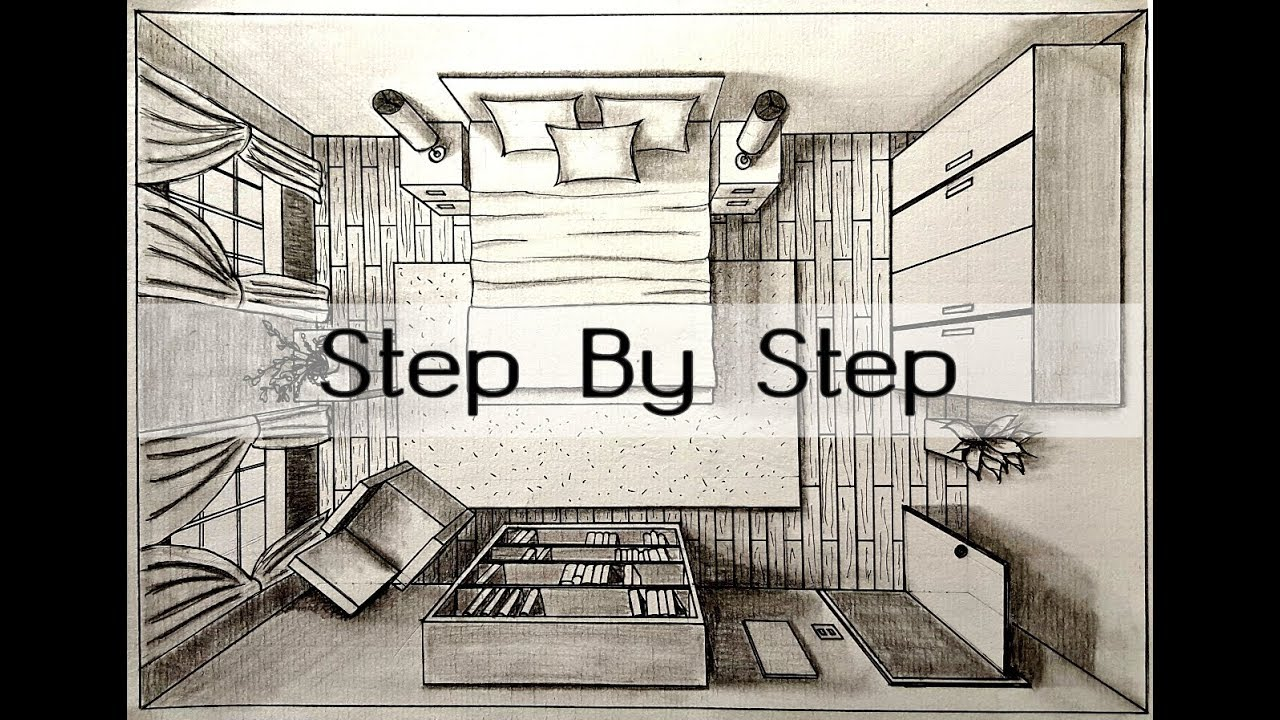 How To Draw A Bedroom In One Point Perspective Bird S Eye