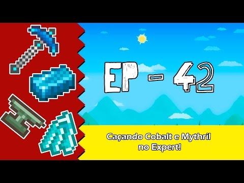 Caçando Cobalt e Mythril no Expert - Terraria [EP 42] Pt Br
