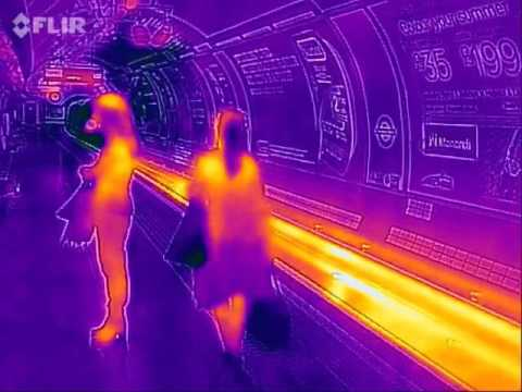 Piccadilly Circus Tube Station in Thermal Infrared