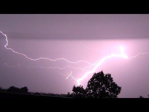 Viele Blitze: Gewitter über Kassel - eine kleine Blitzsammlung