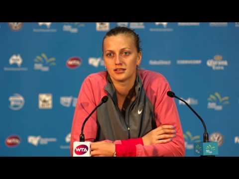 Petra Kvitová press conference (QF) - Apia International Sydney 2015