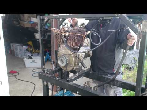 Harley Davidson 1919 engine start