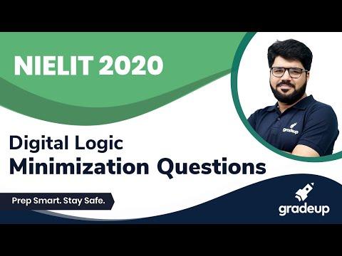 Minimization Questions | NIELIT 2020 | Digital Logic | Rakesh Sir | Gradeup