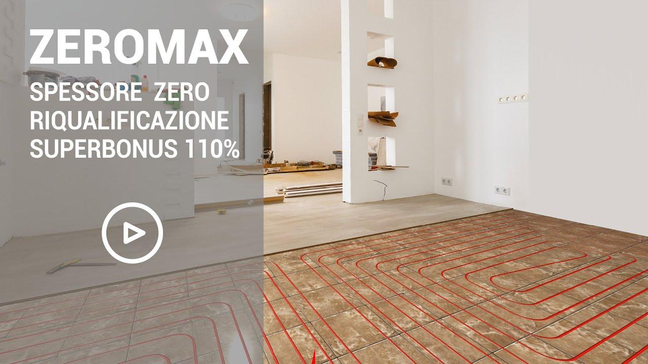 Riscaldamento A Pavimento Ribassato Spessore zeromax, sistema radiante a pavimento a zero spessore ideale per la  riqualificazione