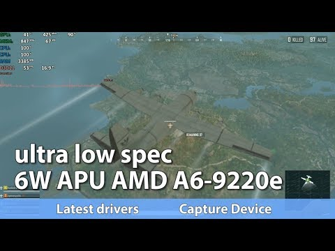 Ultra Low Spec Gaming On Amd A6 9220e 6 Watt Apu Youtube