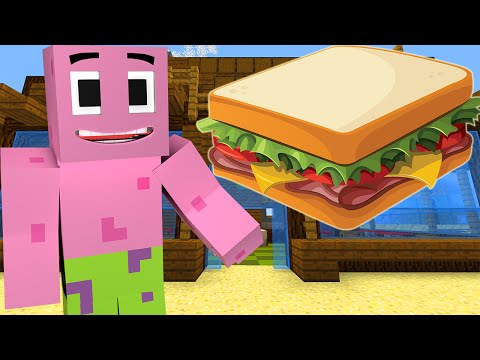 Minecraft : Spongebob Episode 11  PATRICK'S SANDWICH Minecraft Roleplay