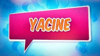 Joyeux anniversaire Yacine