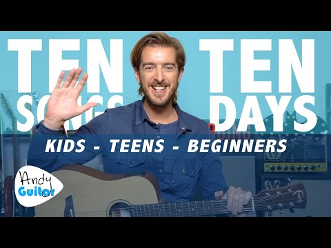 Guitar Lesson 4 for Kids // LEARN 10 SONGS IN 10 DAYS