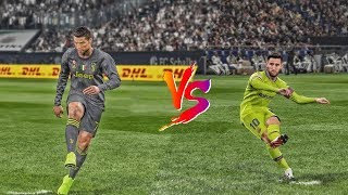 PES 2019 | Ronaldo vs Messi - Free kick ● 2019/01/10