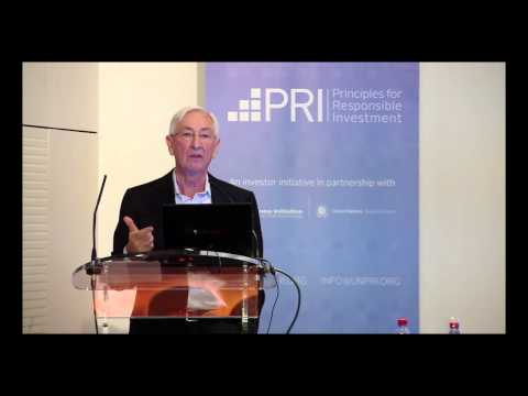 PRI - CDC KEYNOTE ADDRESS, Transforming pension funds into e