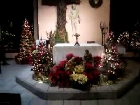 The Altar Decorated W Christmas At St John Vianney Catholic Church In Sedona Arizona
