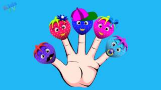 The Finger Family Rainbow Strawberry Songs ¦ Cake Pop Family Nursery Rhyme