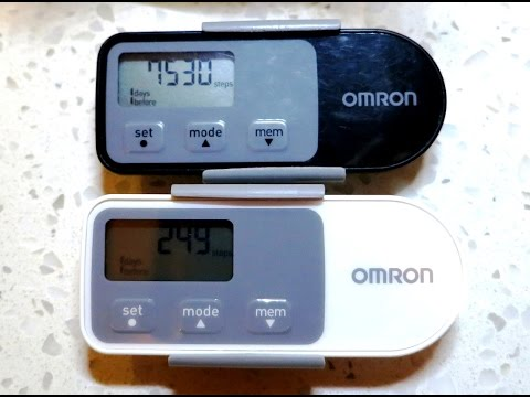 Omron HJ-321 vs HJ-320 pedometer.