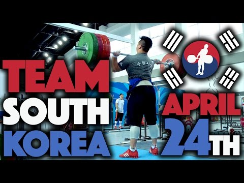 Team South Korea - 2017 Asian Championships Training Hall (April 24th)