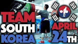 Team South Korea - 2017 Asian Championships Training Hall (April 24th)