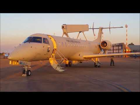 Embraer E-99 da FAB - Acionamento dos motores e taxiamento