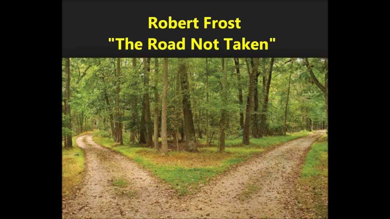 quotthe road not takenquot robert frost poem male voice quottwo