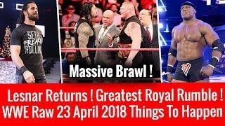 WWE Raw 4/23/2018 Highlights Updates ! Brock Lesnar Returns ! WWE Raw 23 April 2018 !