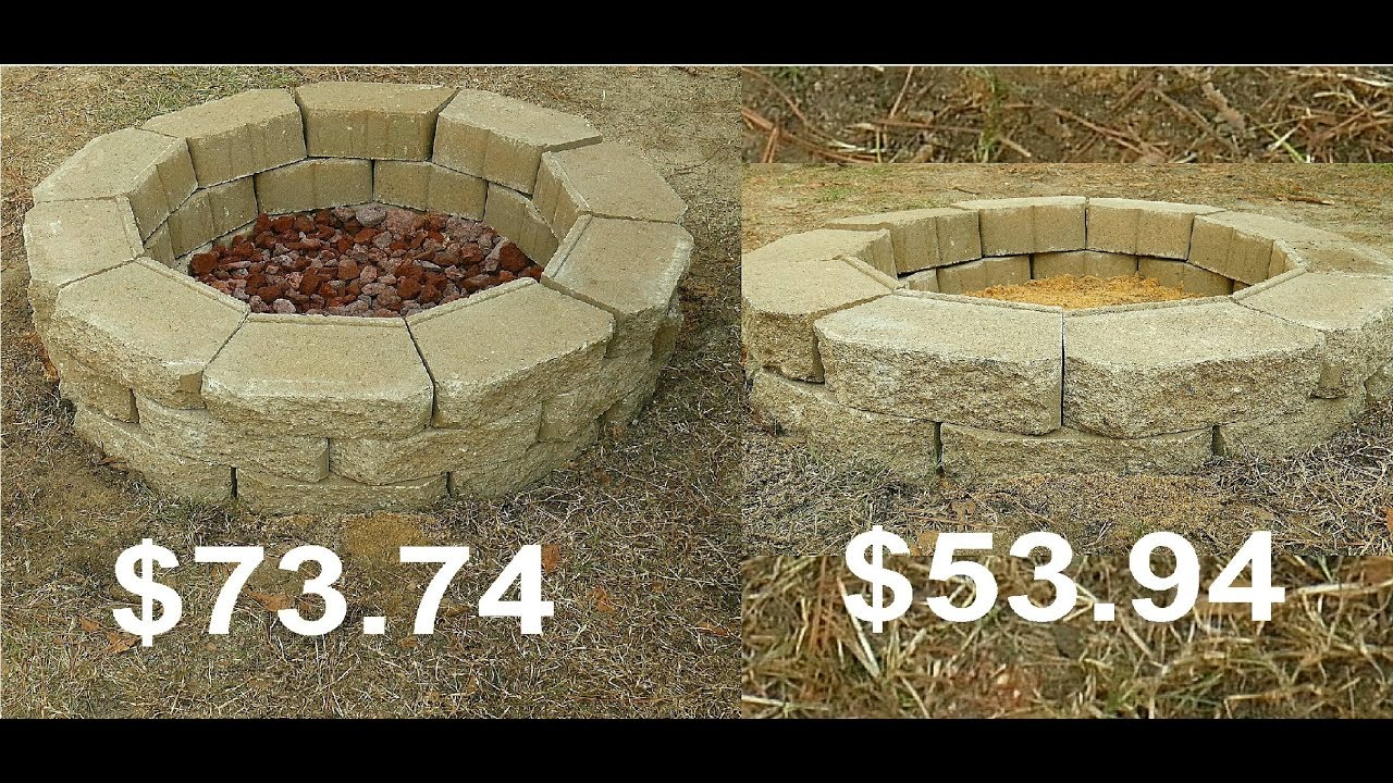 How To Build A Fire Pit Under 60 Easy Simple Youtube