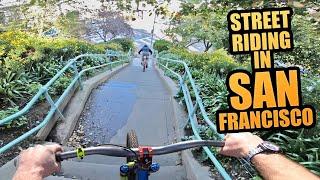 STREET RIDING IN SAN FRANCISCO - URBAN MTB FREERIDE