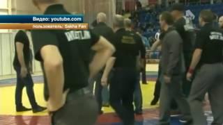 Очередной этап Первенства России по вольной борьбе среди юношей перерос в массовую драку