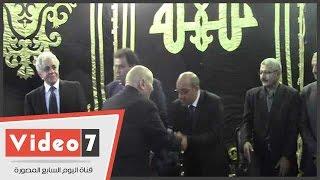 عبد الحكيم عبد الناصر وبكرى وأبو عيطة فى عزاء الراحل عبد العظيم مناف