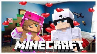 LITTLE KELLY AND RAVEN HAVE A SLEEPOVER DATE w/Baby Ellie and Baby Flo | Minecraft LOVE STORY |