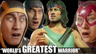 Everyone Giving Respect to Rambo & What Mission is Rambo On in Mortal Kombat 11