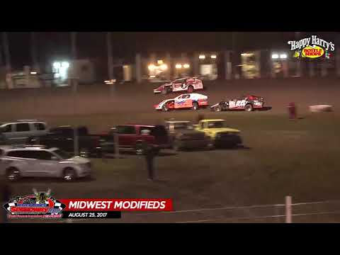 Happy Harry's Midwest Modifieds - August 25, 2017 - River Cities Speedway
