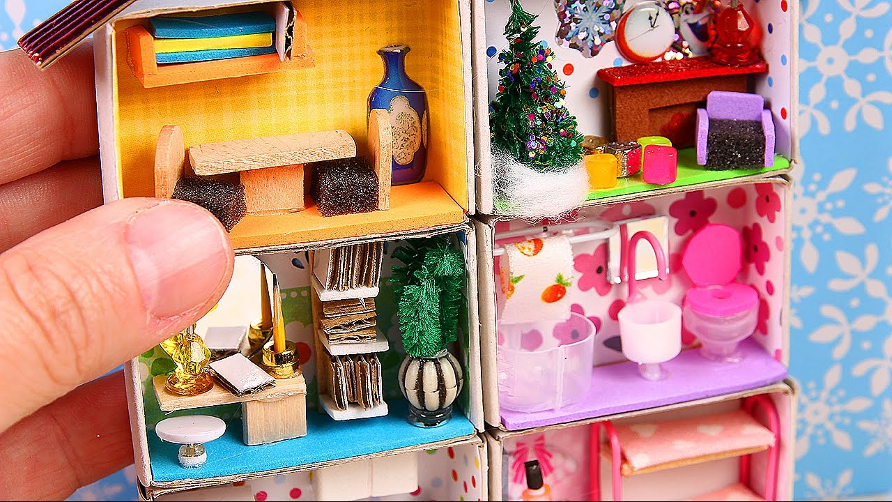 DIY Miniature Matchbox Dollhouse Tutorial