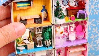 DIY Miniature Matchbox Dollhouse Tutorial