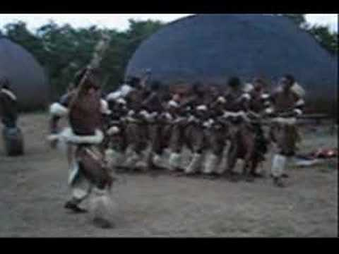 Zulu kids Dancing, Singing & Stick Fighting, Isandlwana