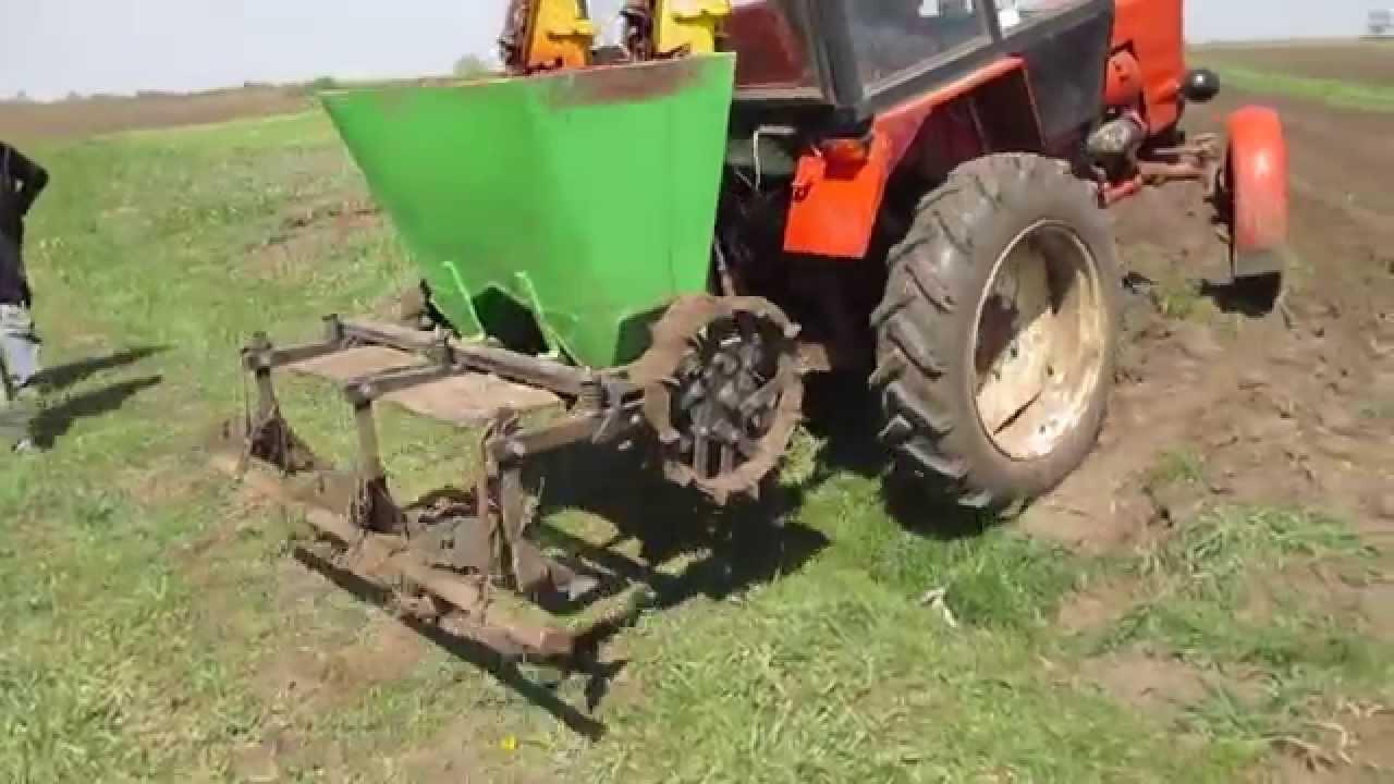 схема посадки картофеля мотоблоком крот