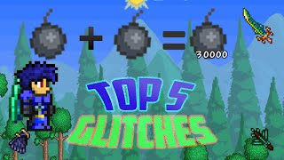 Terraria 1.2.4  top 5 glitches for ios/android [top 5 useful/funny glitches in terraria mobile]