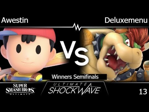 USW 13 - TLOC | Awestin (Ness) vs Deluxemenu (Bowser) Winners Semifinals - SSBU