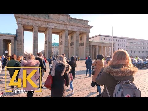 Trip around Berlin, Germany in 4K 60fps Virtual Walking Tour with Original City Sounds