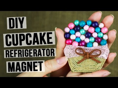 How to Make a DIY Cupcake Refrigerator Magnet