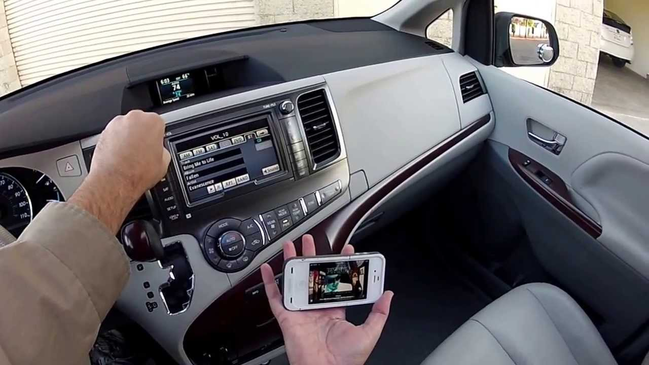 Radio & Systems 2011 Toyota Sienna XLE, Leather, Premium, Navigation, & DVD - YouTube