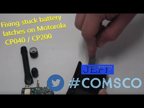 Fixing Stuck Battery Latches On Motorola CP040 / CP200