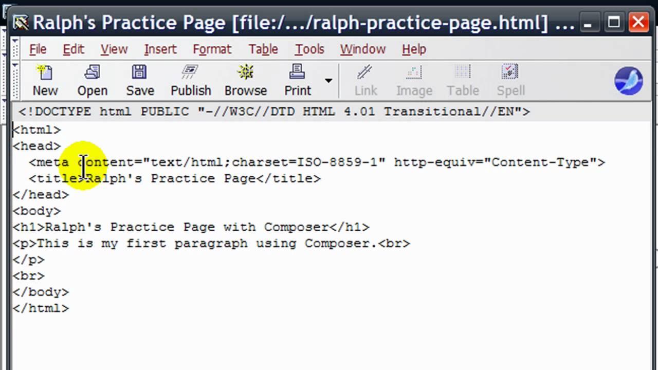 Use Mozilla/SeaMonkey Composer to Make Web Pages - YouTube