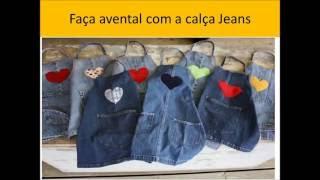 50 utilidades ideias para fazer reaproveitando Jeans