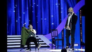 Alex Grama, moment umoristic alături de Andrei Ștefănescu, pe scena Next Star
