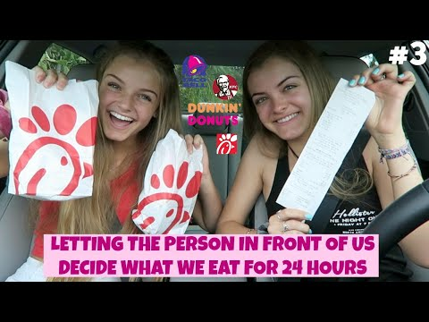 Letting the Person in Front of Us Decide What We Eat for 24 Hours Part 3 ~ Jacy and Kacy