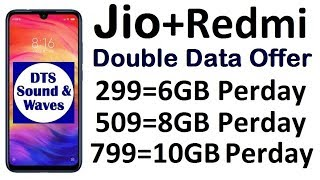 Jio Double Data Offer || 398 में 280GB || Redmi Note 7 and 7 Pro ||