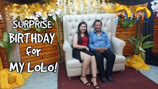 70TH BIRTHDAY OF MY LOLO! (BEST REACTION!!!)
