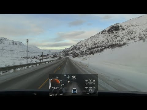 Slow TV: Driving over Hemsedal mountains in winter