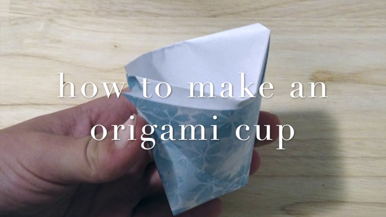 beginner - how to make a paper origami cup - YouTube - photo#28