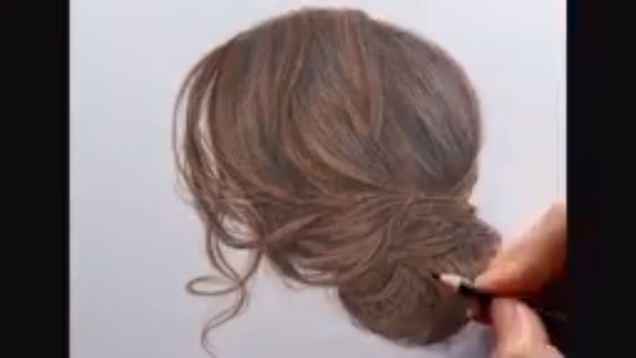 drawing tutorial how to draw and color soft wavy hair drawing
