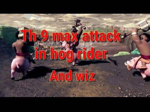 War best attack in hog rider max th9||by game guru rkj |
